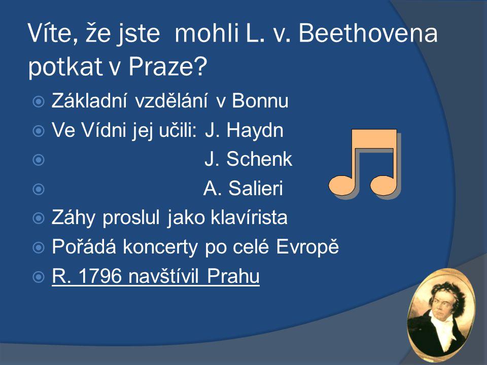 Víte, že jste mohli L. v. Beethovena potkat v Praze