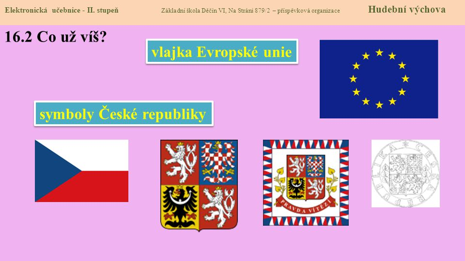státní barvy 16.2 Co už víš vlajka Evropské unie