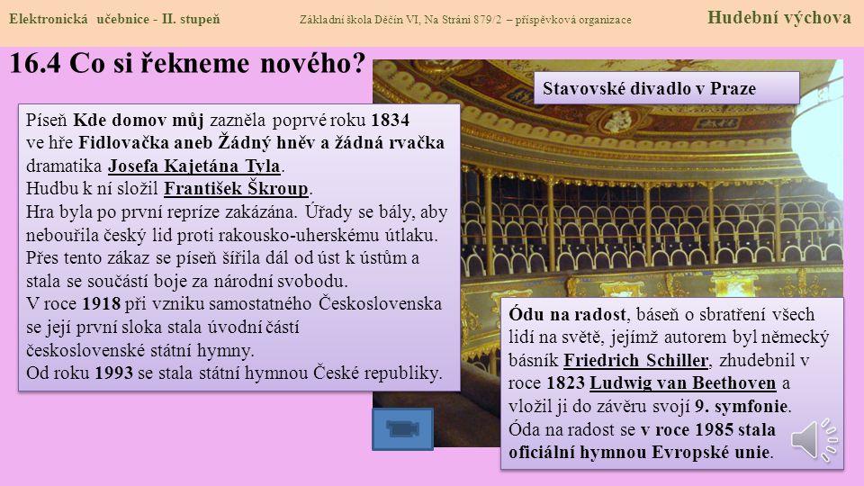 16.4 Co si řekneme nového Stavovské divadlo v Praze