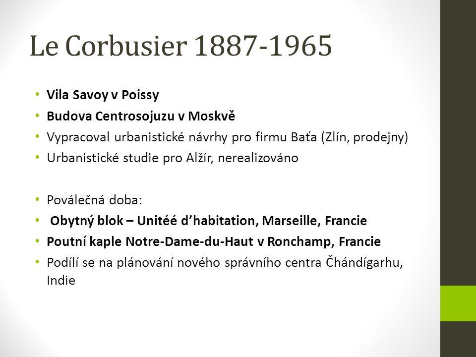 Le Corbusier 1887-1965 Vila Savoy v Poissy