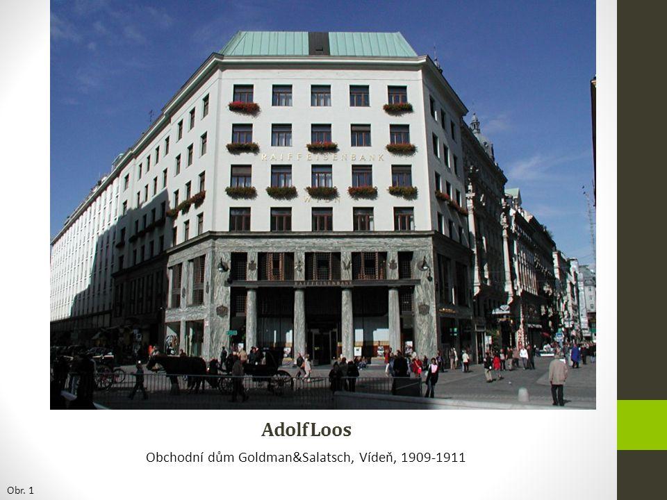 Obchodní dům Goldman&Salatsch, Vídeň, 1909-1911