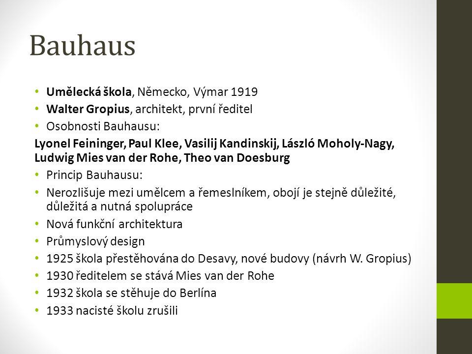 Bauhaus Umělecká škola, Německo, Výmar 1919