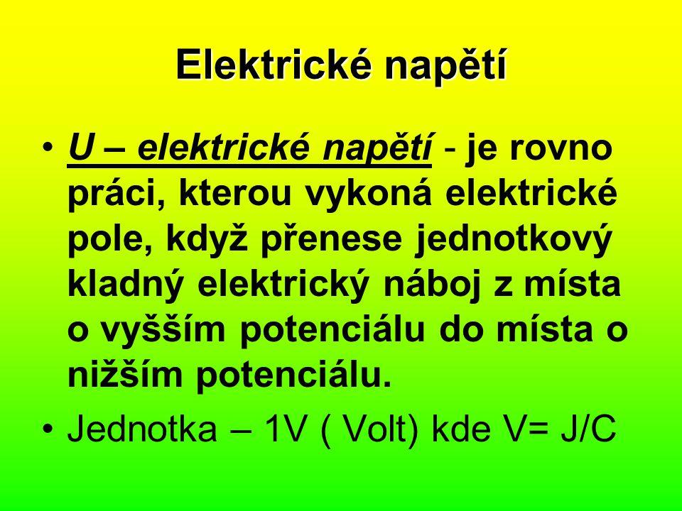 Elektrické napětí