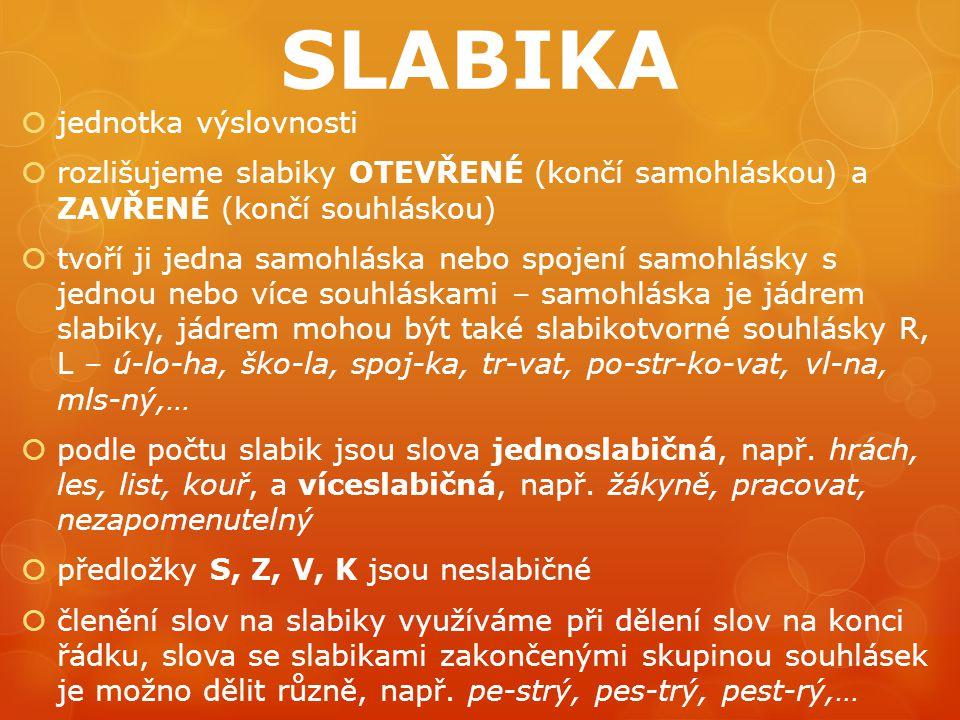SLABIKA jednotka výslovnosti