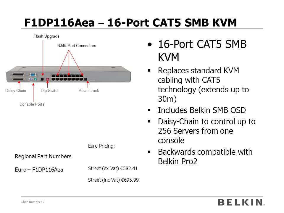 F1DP116Aea – 16-Port CAT5 SMB KVM