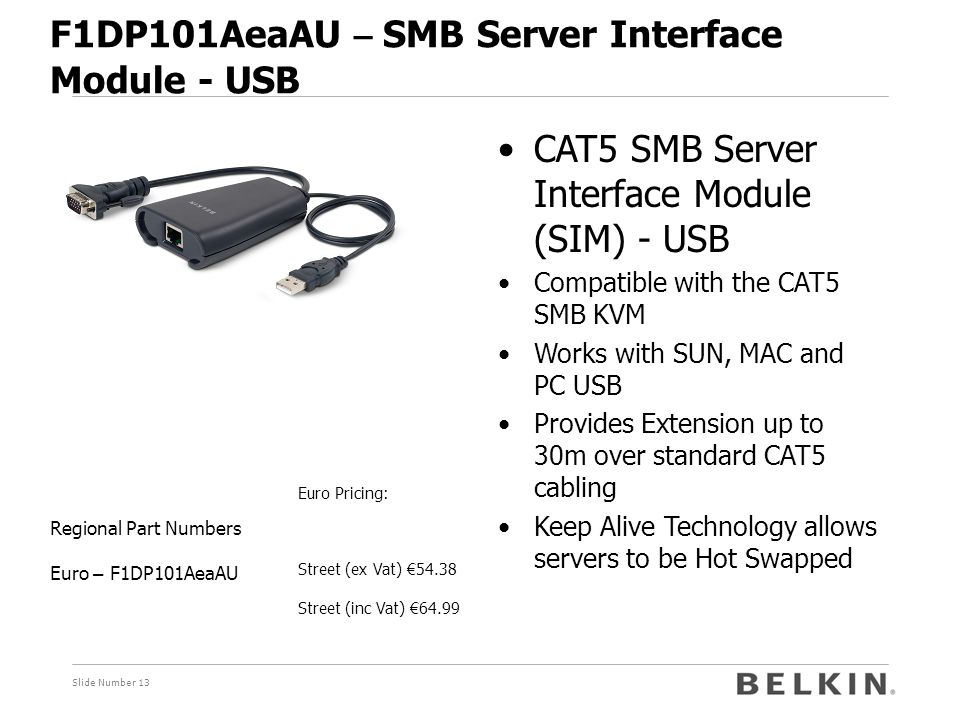 F1DP101AeaAU – SMB Server Interface Module - USB