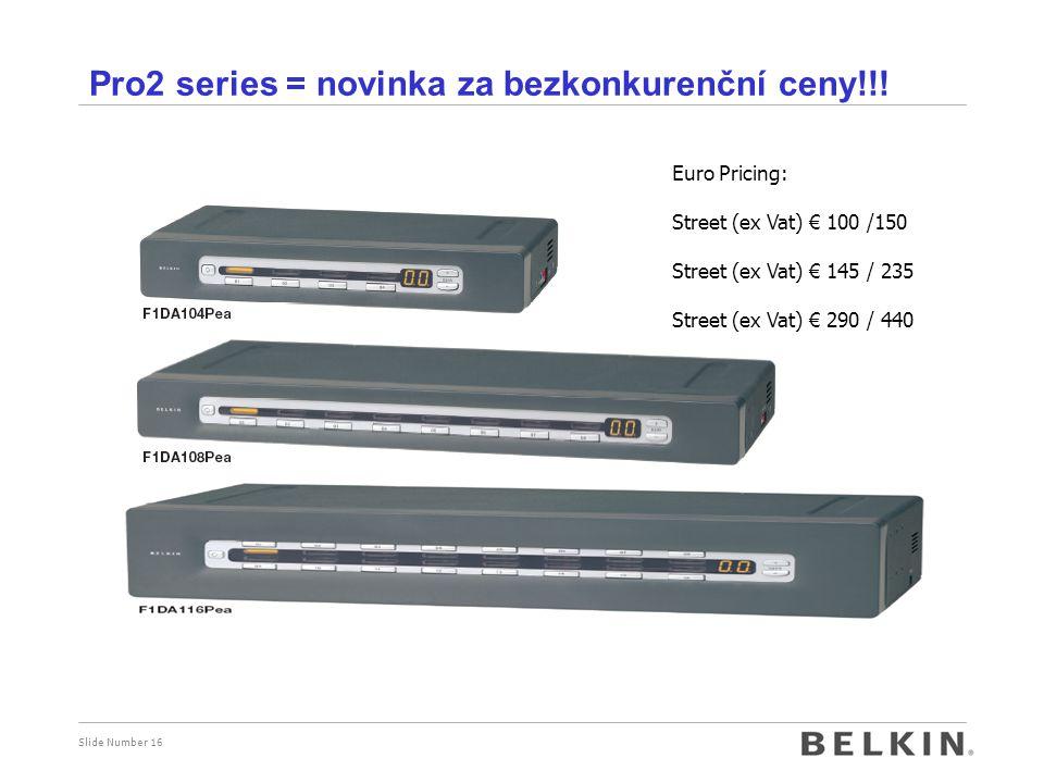 Pro2 series = novinka za bezkonkurenční ceny!!!