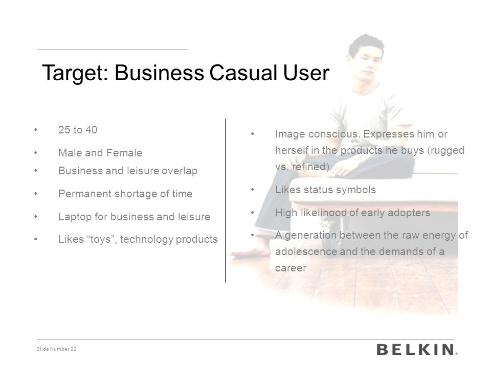 Target: Business Casual User