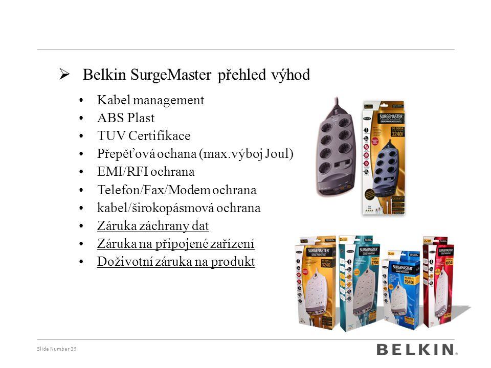 Belkin SurgeMaster přehled výhod