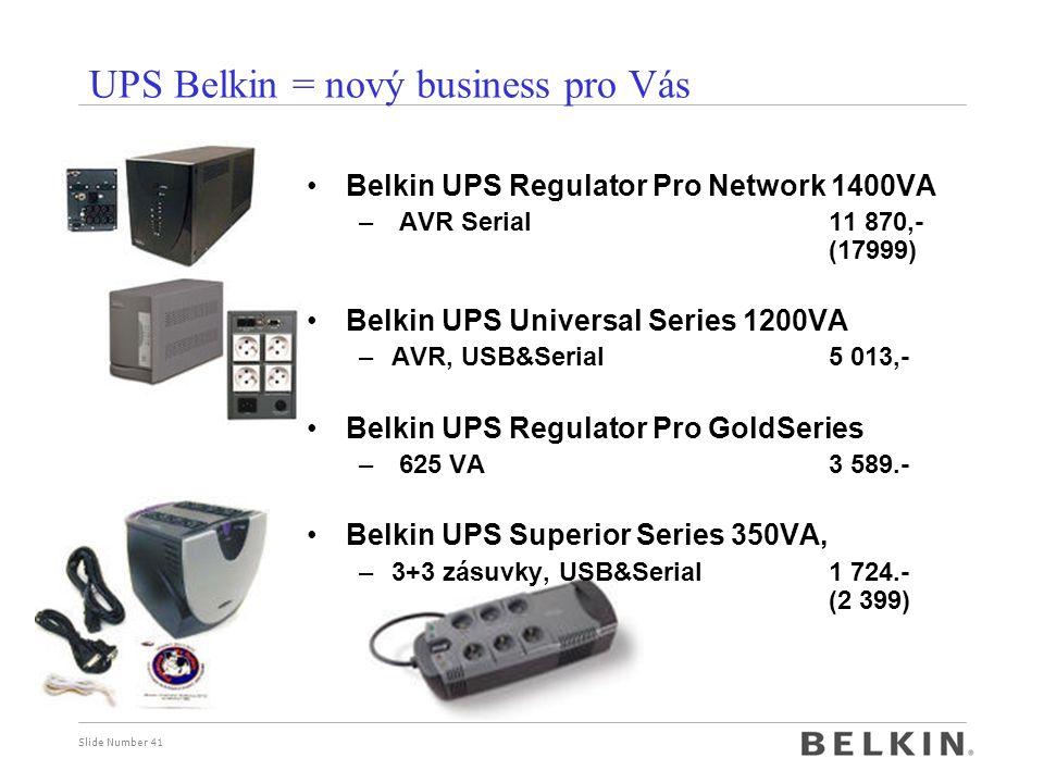 UPS Belkin = nový business pro Vás