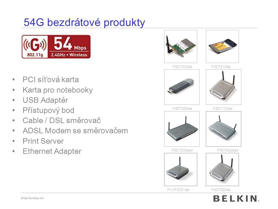 54G bezdrátové produkty PCI síťová karta Karta pro notebooky