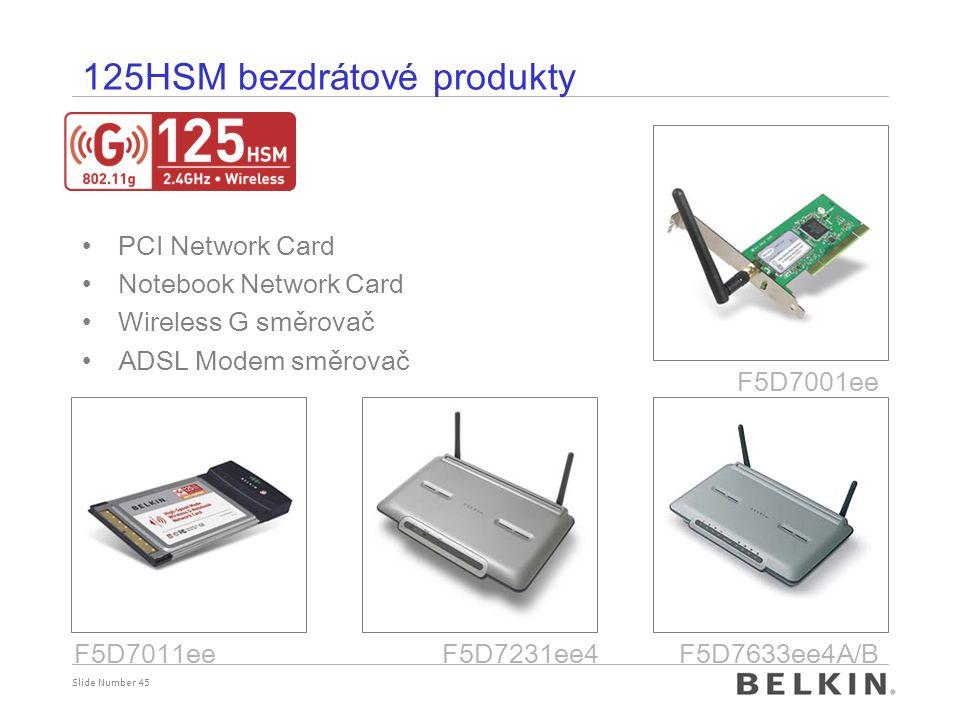 125HSM bezdrátové produkty