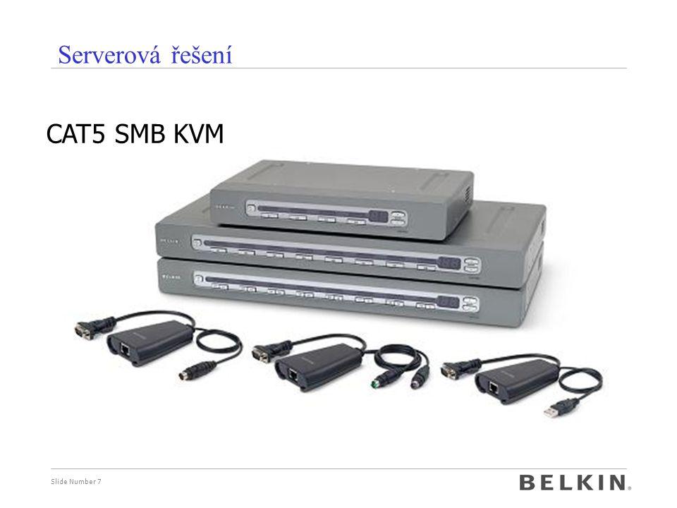Serverová řešení CAT5 SMB KVM