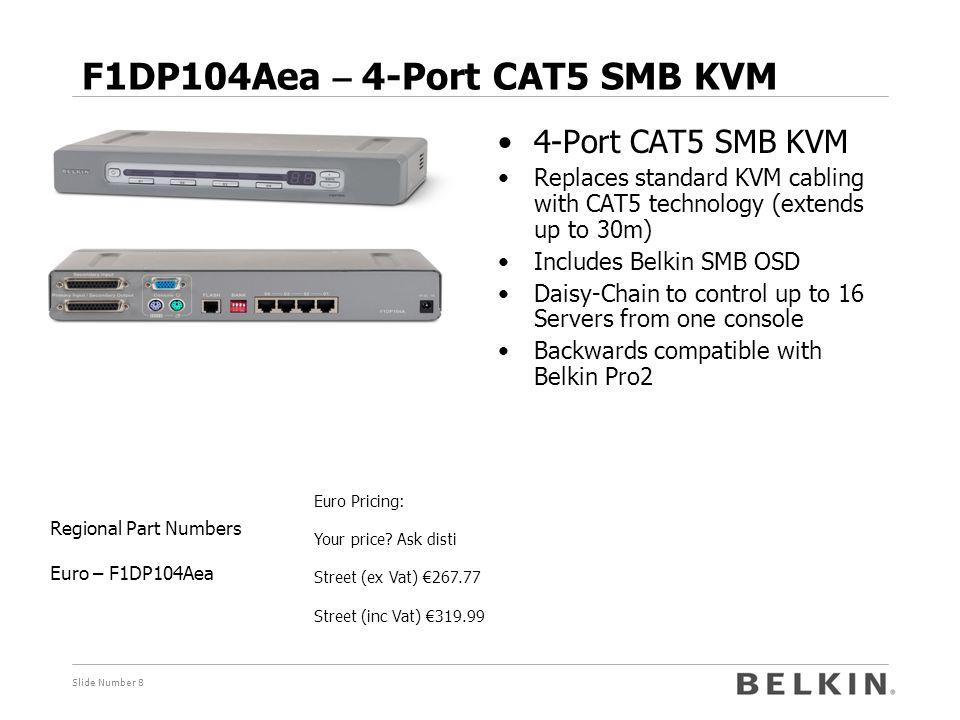 F1DP104Aea – 4-Port CAT5 SMB KVM