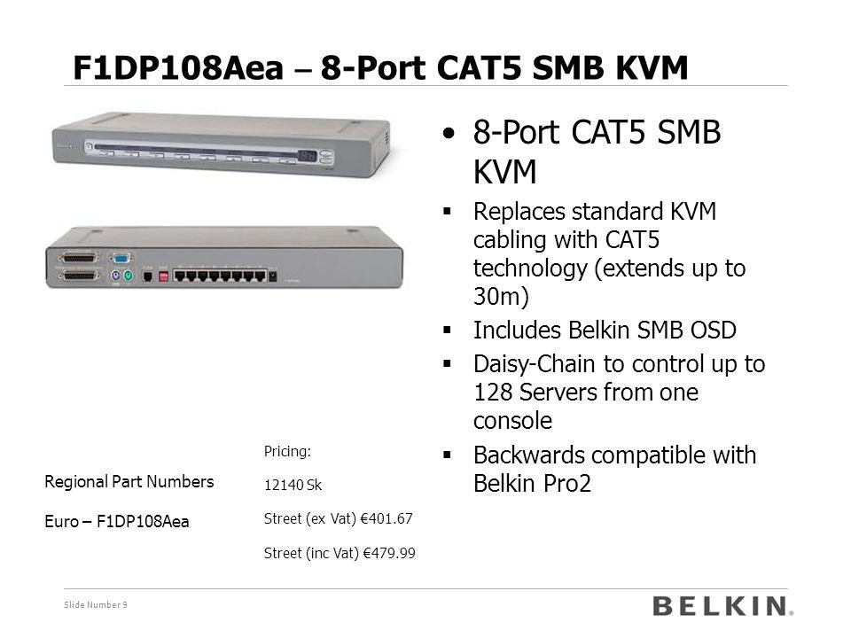 F1DP108Aea – 8-Port CAT5 SMB KVM