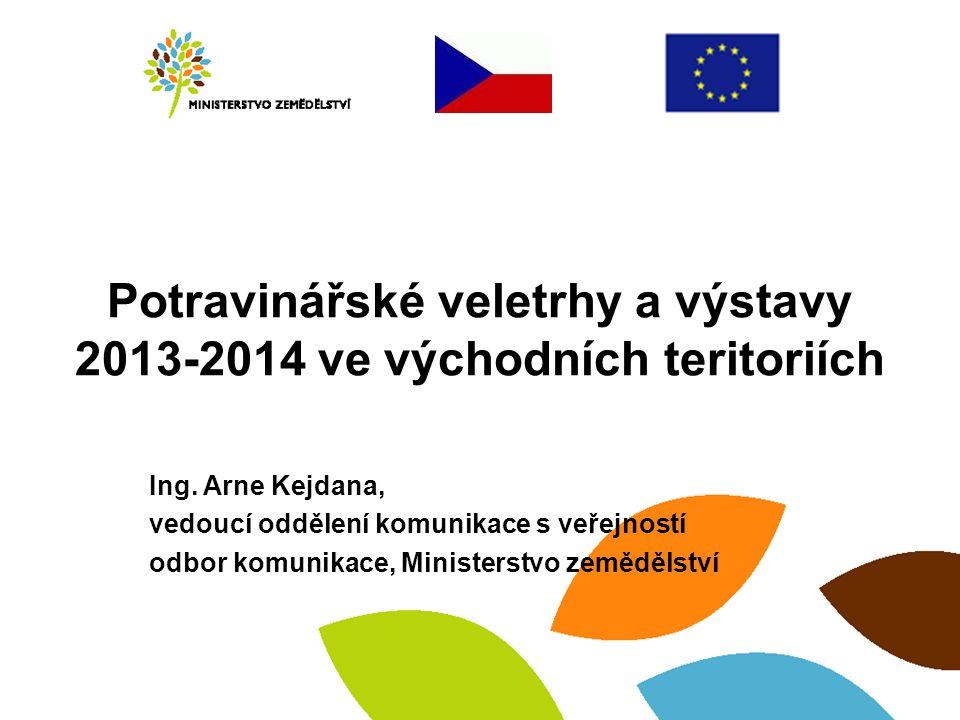 Potravinářské veletrhy a výstavy 2013-2014 ve východních teritoriích