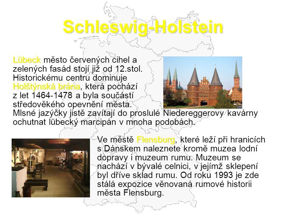 Schleswig-Holstein Lübeck město červených cihel a