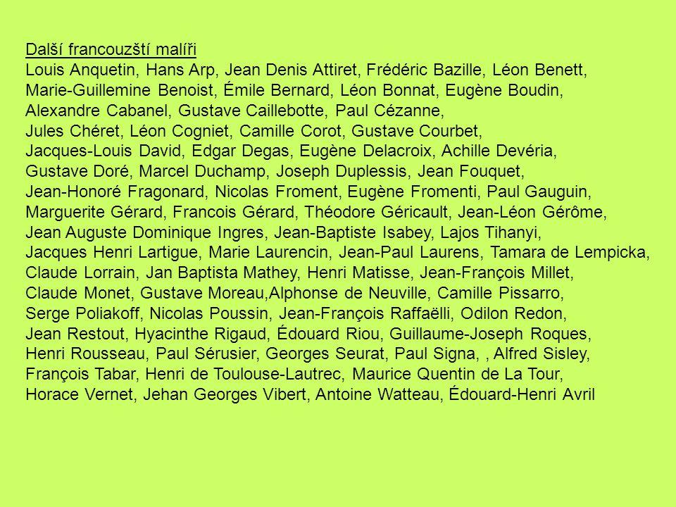 Další francouzští malíři