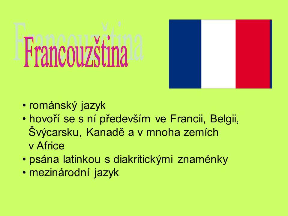 Francouzština románský jazyk