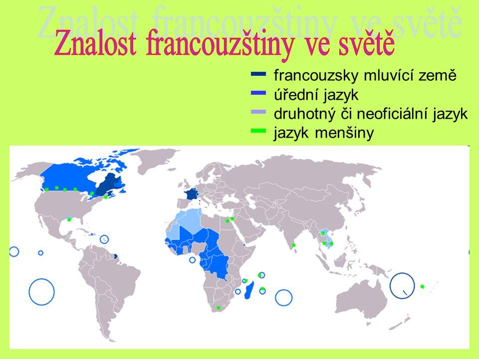 Znalost francouzštiny ve světě