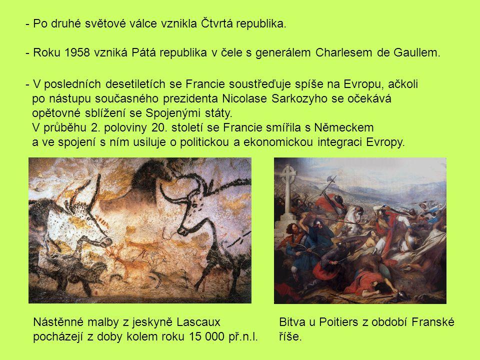 - Po druhé světové válce vznikla Čtvrtá republika.