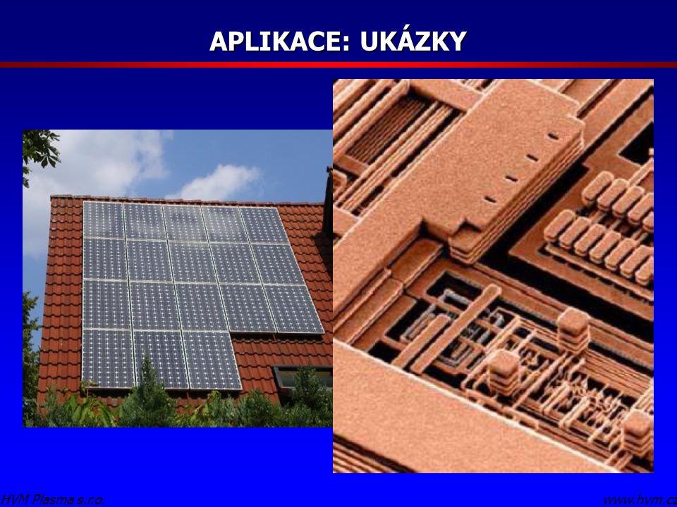 APLIKACE: UKÁZKY Doplnit Solární panel HVM Plasma s.r.o. www.hvm.cz
