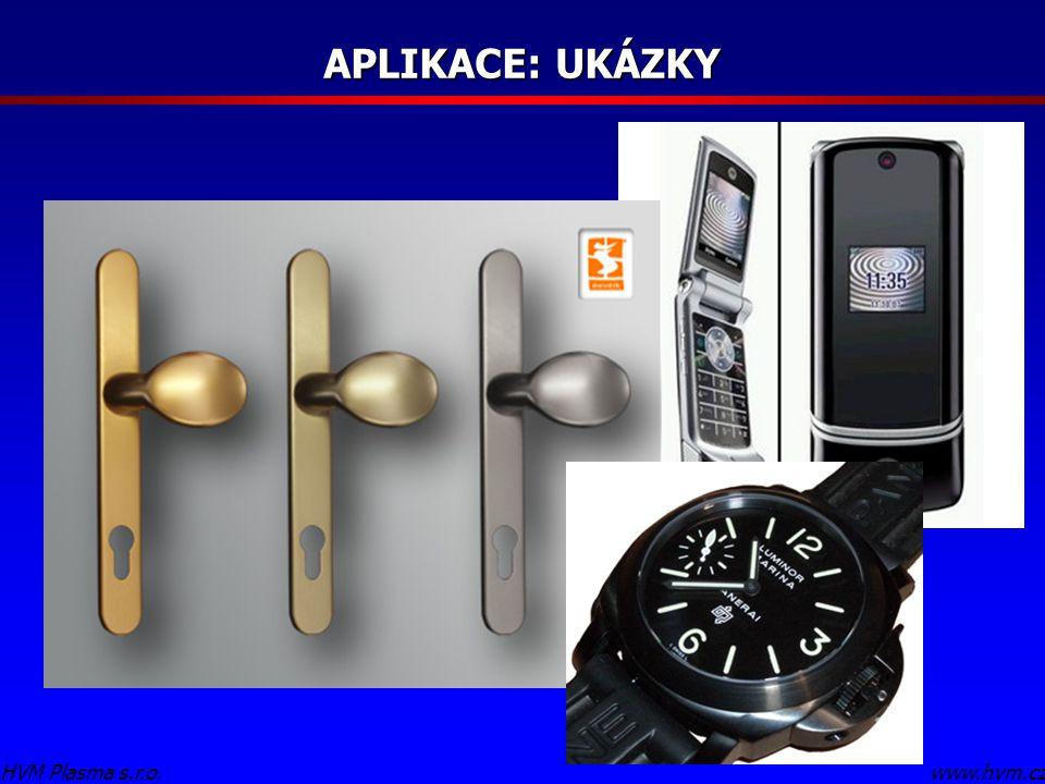 APLIKACE: UKÁZKY HVM Plasma s.r.o. www.hvm.cz