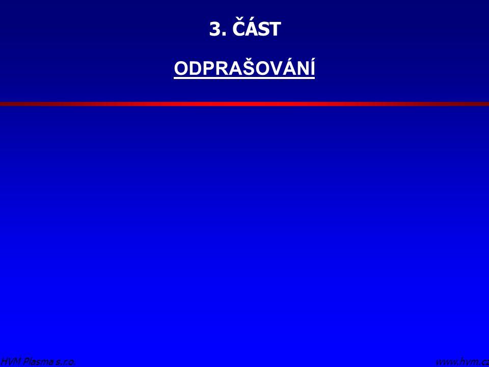 3. ČÁST ODPRAŠOVÁNÍ HVM Plasma s.r.o. www.hvm.cz