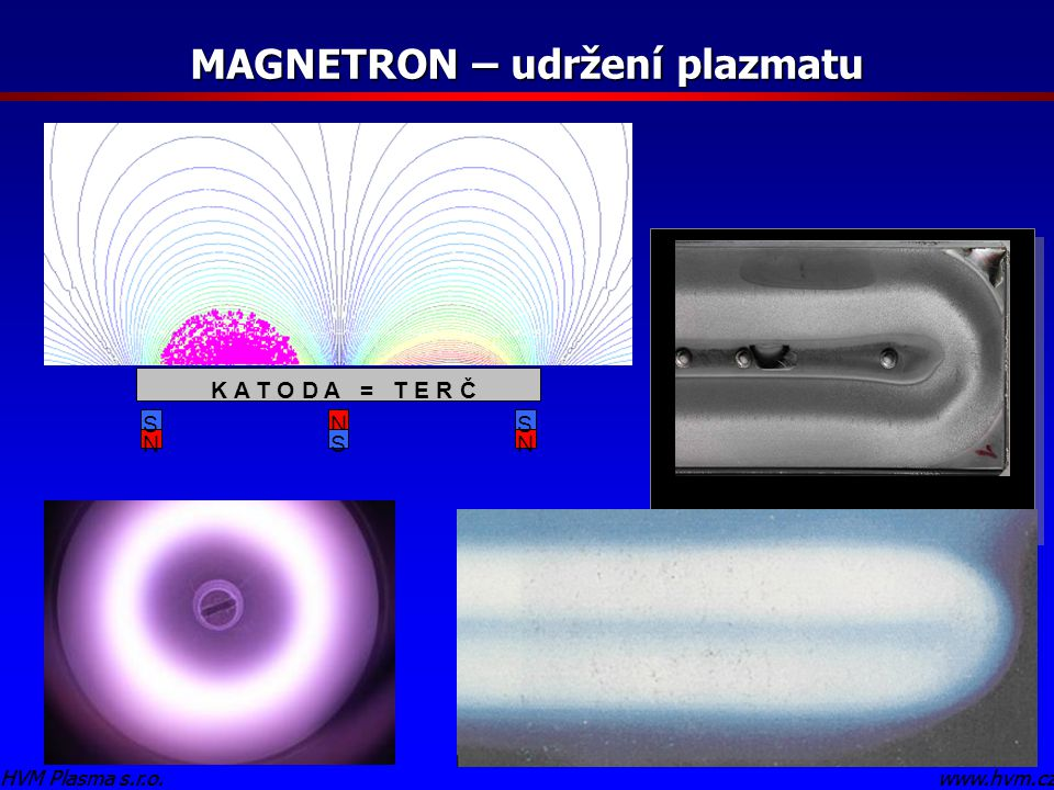 MAGNETRON – udržení plazmatu