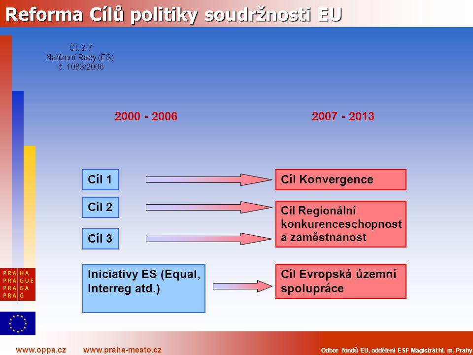 Reforma Cílů politiky soudržnosti EU