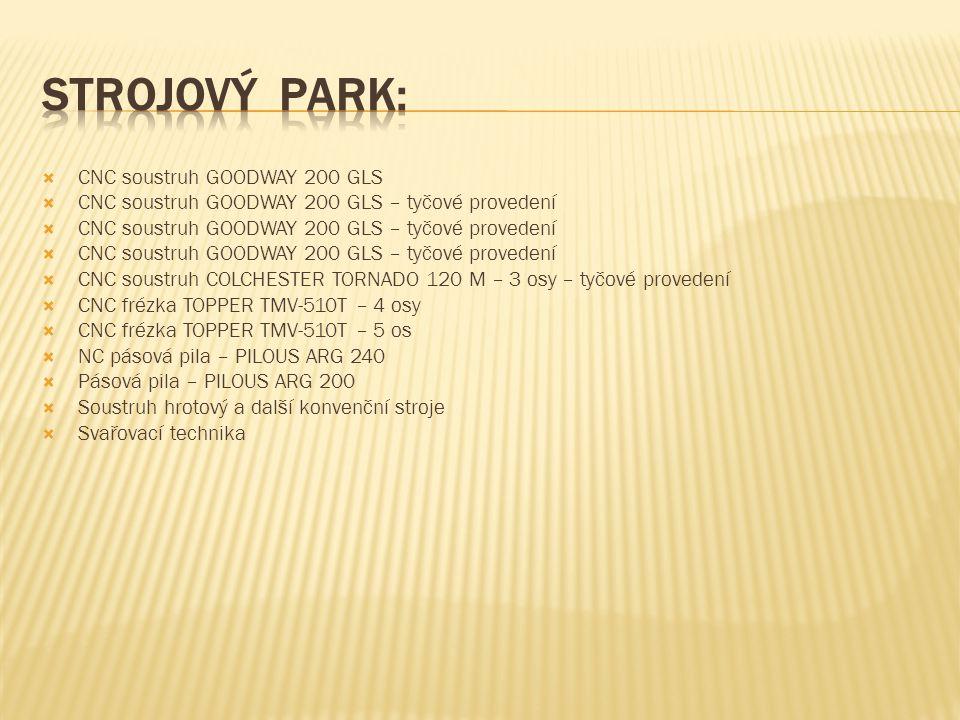 Strojový park: CNC soustruh GOODWAY 200 GLS