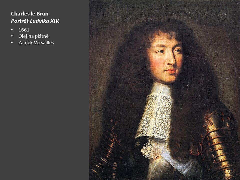 Charles le Brun Portrét Ludvíka XIV. 1661 Olej na plátně