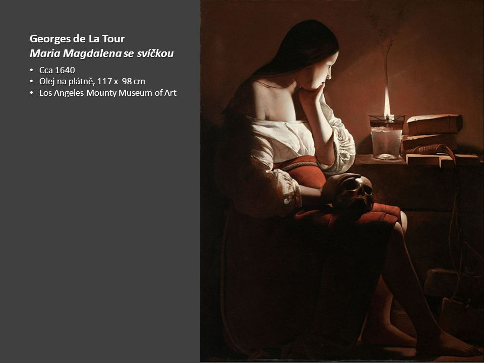 Maria Magdalena se svíčkou