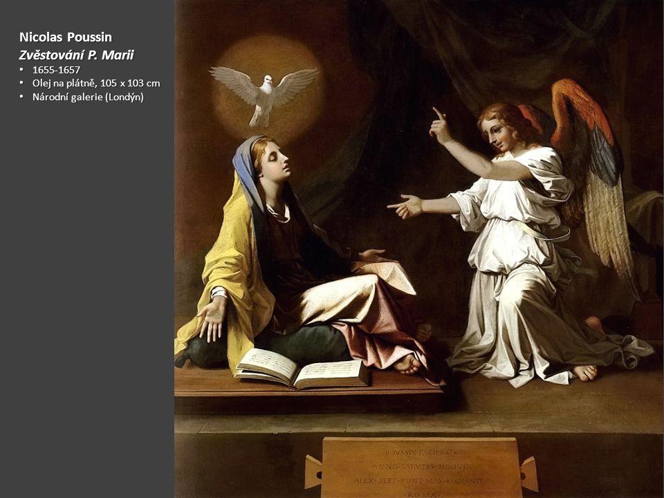 Nicolas Poussin Zvěstování P. Marii 1655-1657