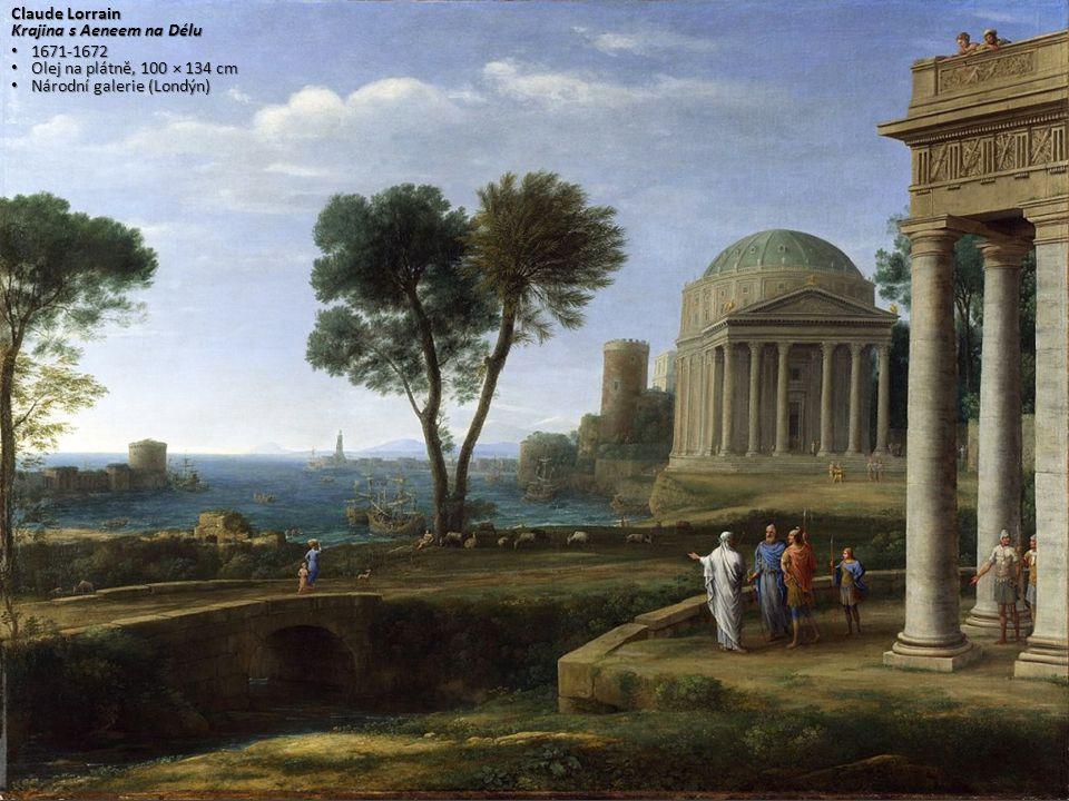 Claude Lorrain Krajina s Aeneem na Délu. 1671-1672.