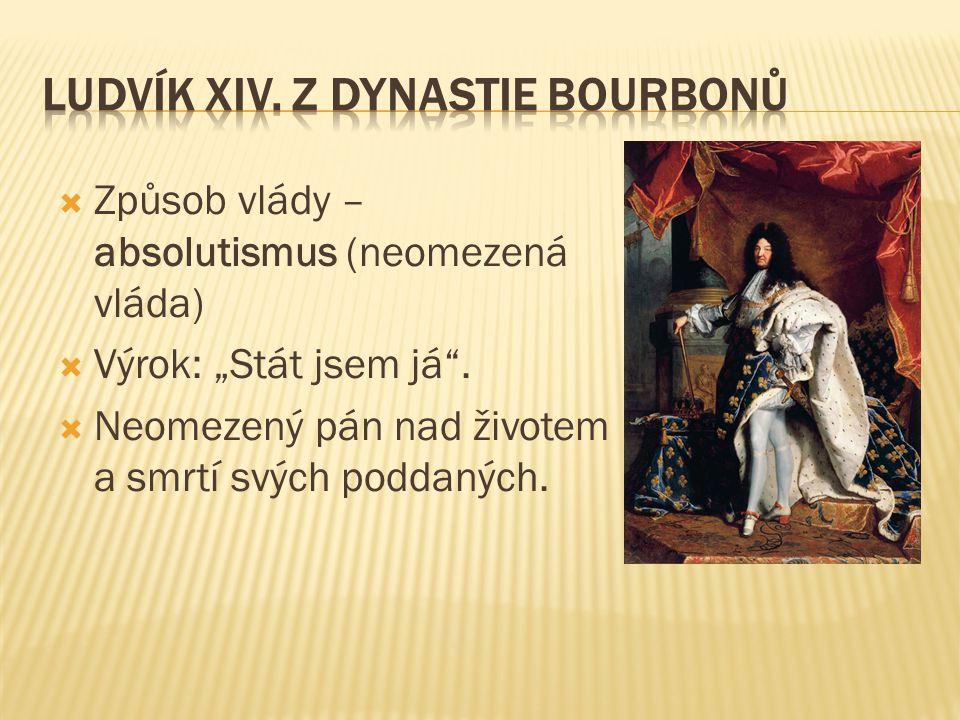 Ludvík XIV. z dynastie Bourbonů