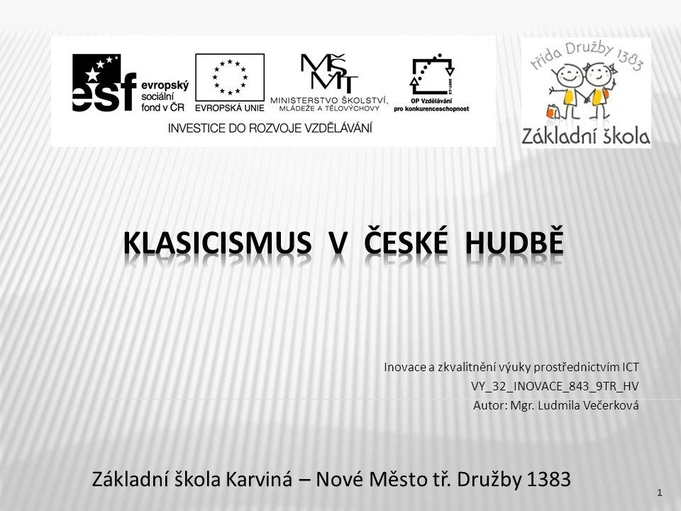 Klasicismus v české hudbě