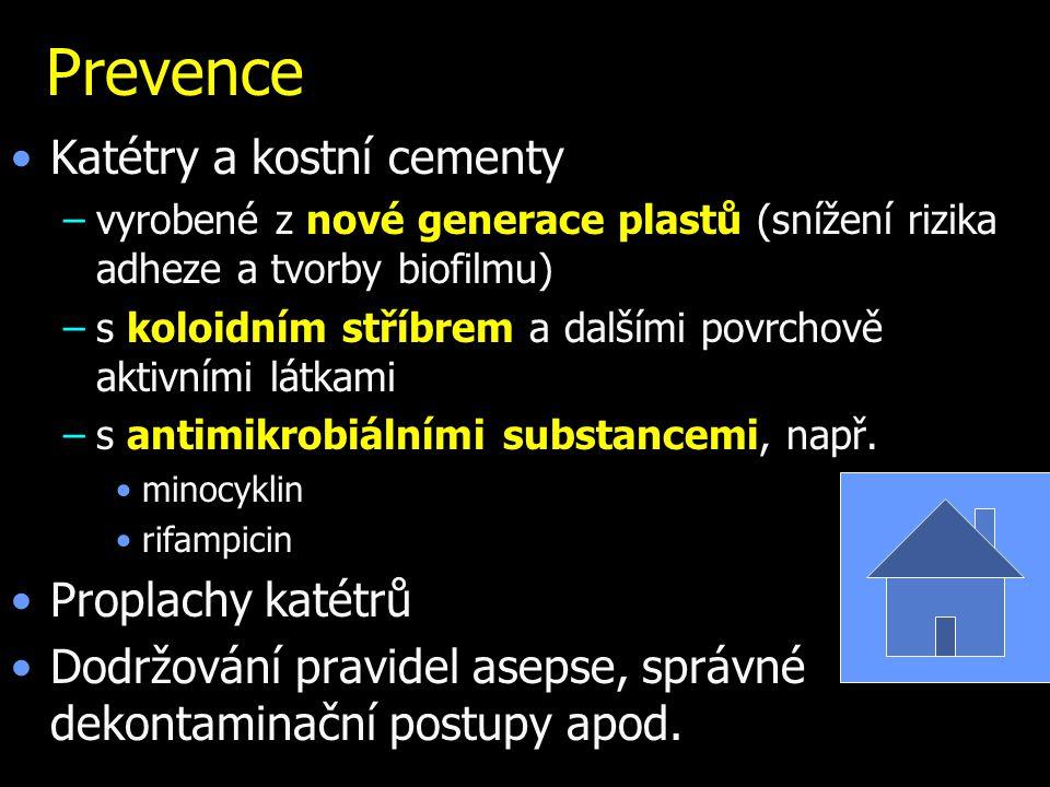 Prevence Katétry a kostní cementy Proplachy katétrů