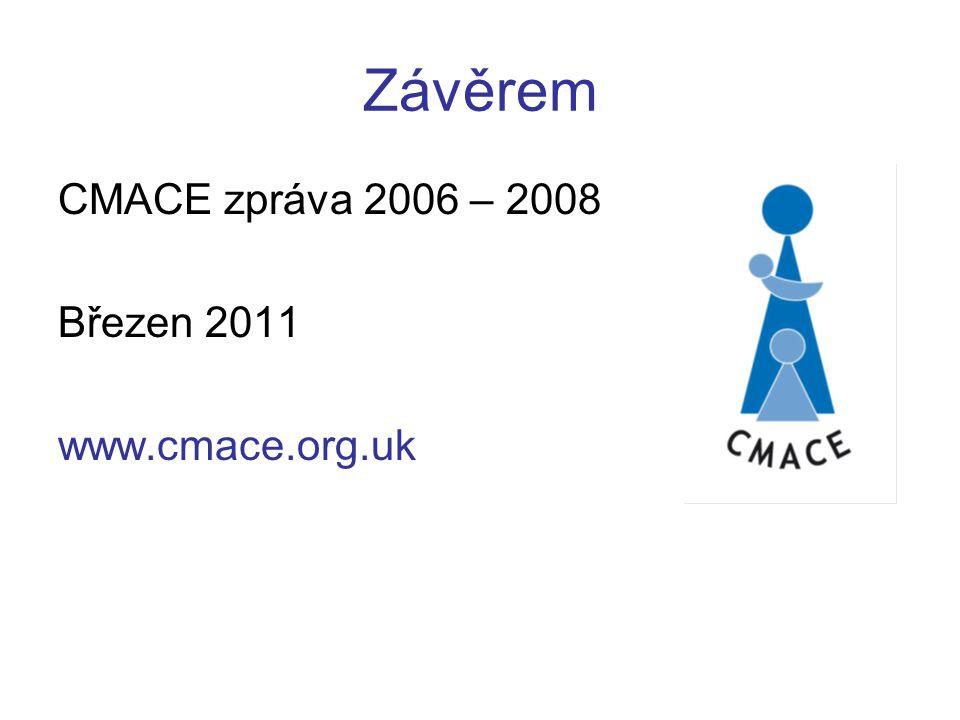 Závěrem CMACE zpráva 2006 – 2008 Březen 2011 www.cmace.org.uk