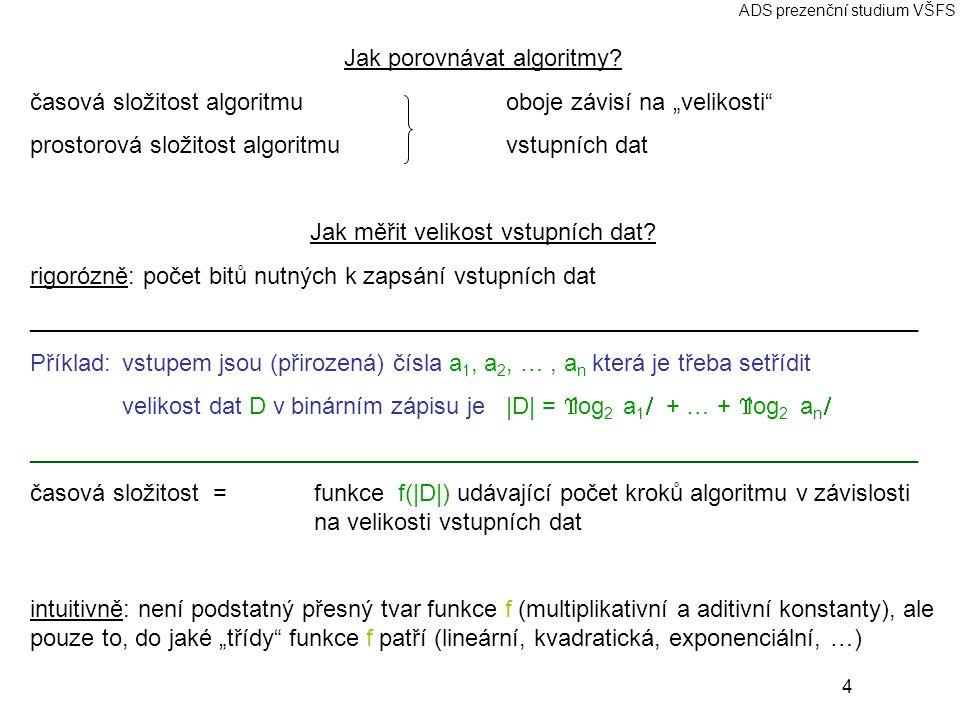 Jak porovnávat algoritmy
