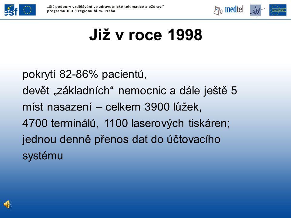 Již v roce 1998 pokrytí 82-86% pacientů,