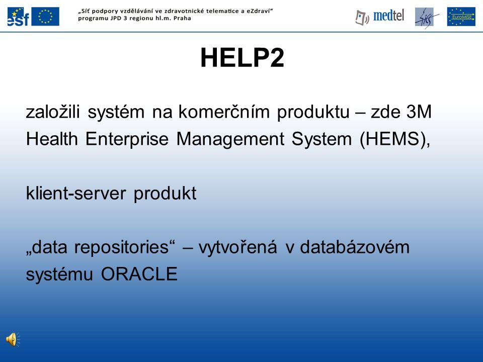 HELP2 založili systém na komerčním produktu – zde 3M