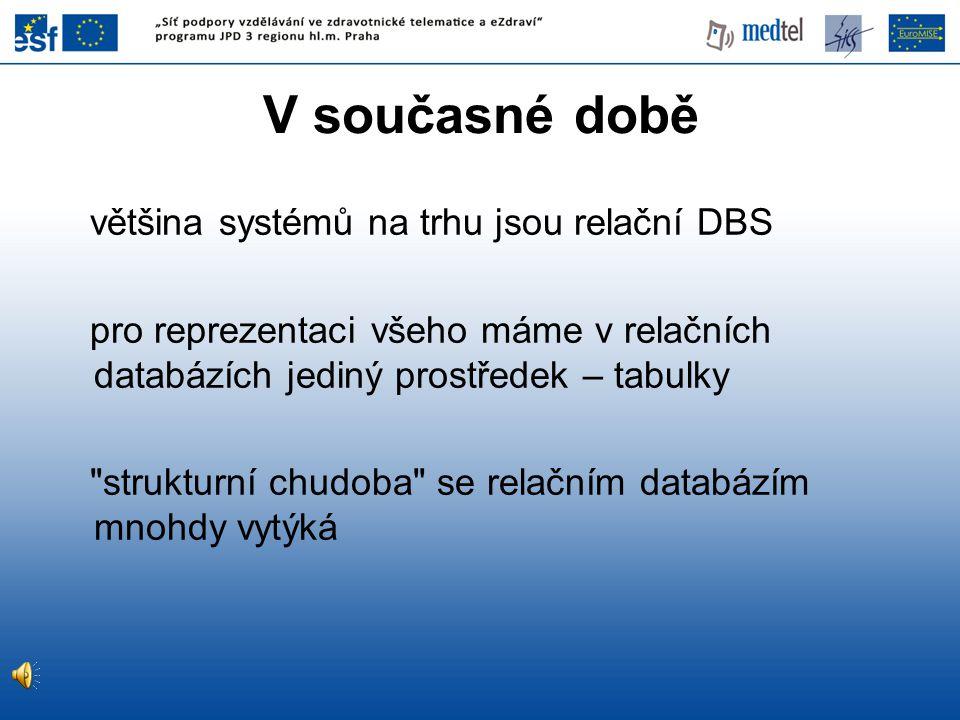 V současné době většina systémů na trhu jsou relační DBS