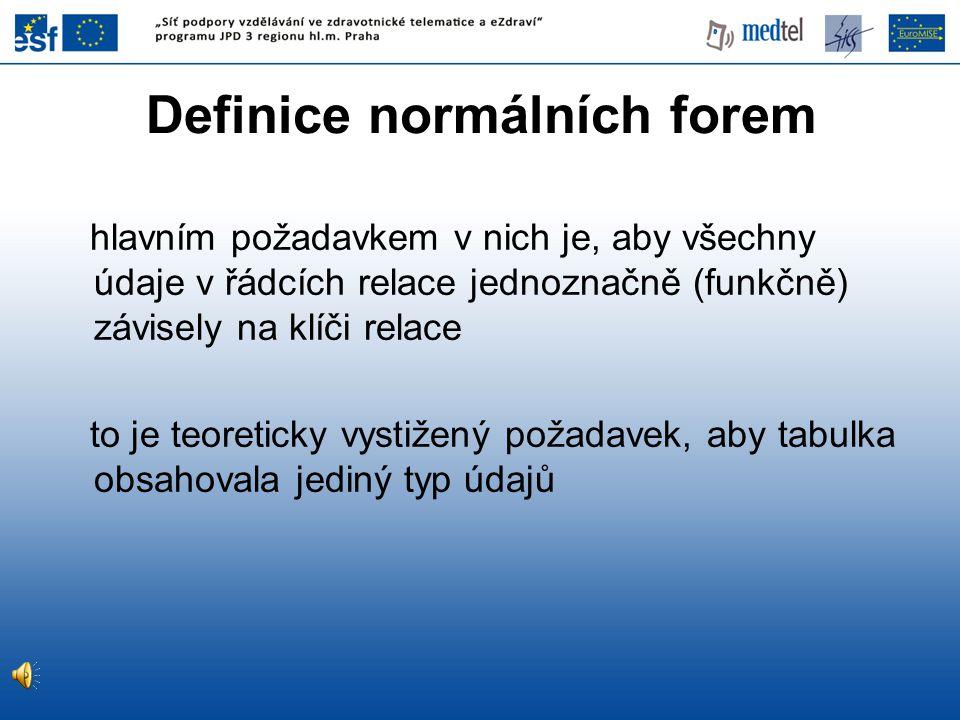 Definice normálních forem