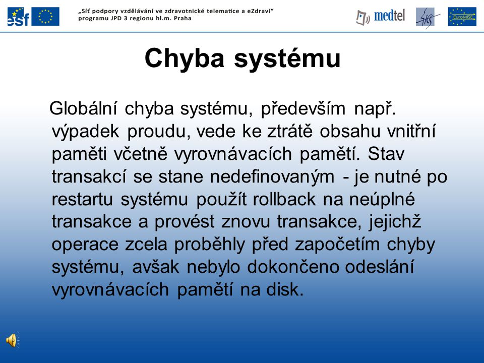 Chyba systému