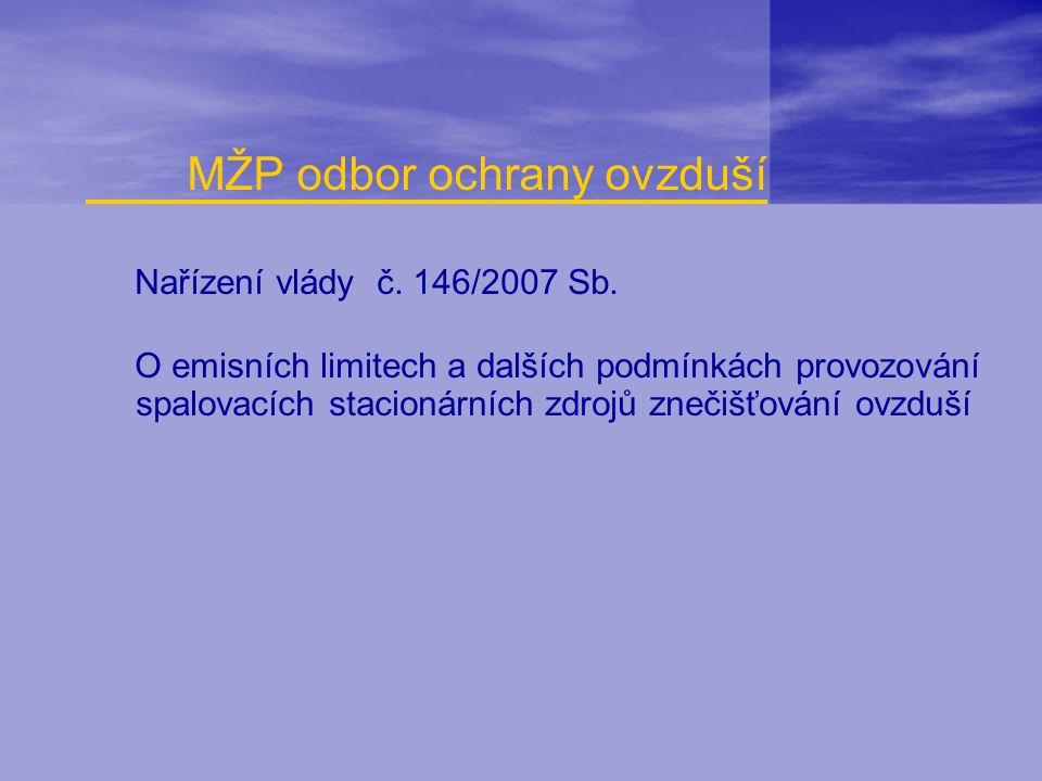 MŽP odbor ochrany ovzduší
