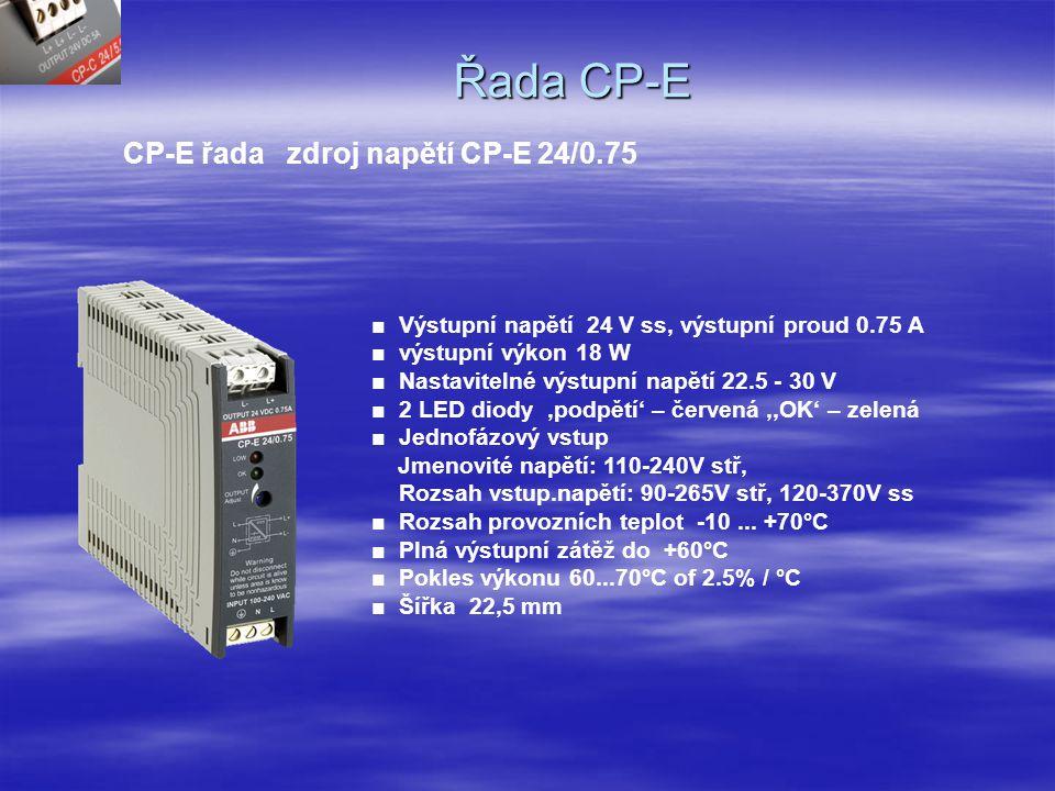 Řada CP-E CP-E řada zdroj napětí CP-E 24/0.75