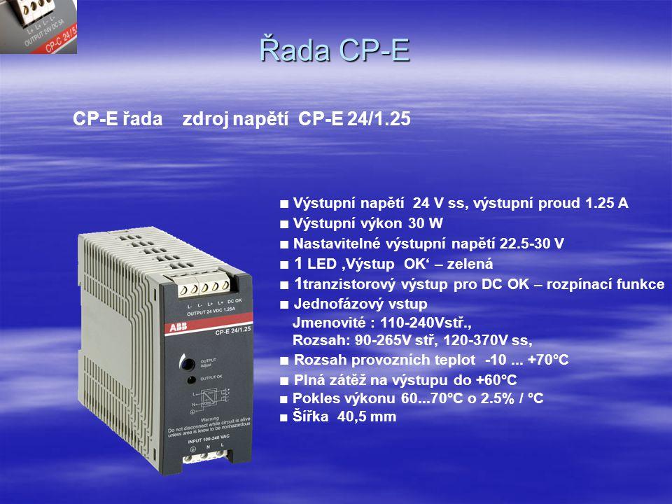 Řada CP-E CP-E řada zdroj napětí CP-E 24/1.25