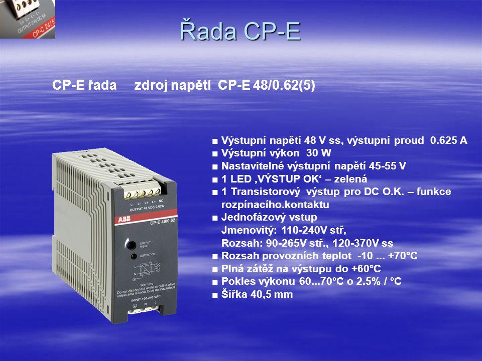 Řada CP-E CP-E řada zdroj napětí CP-E 48/0.62(5)