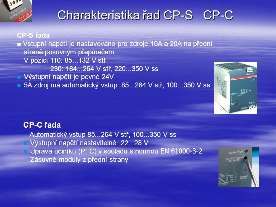 Charakteristika řad CP-S CP-C
